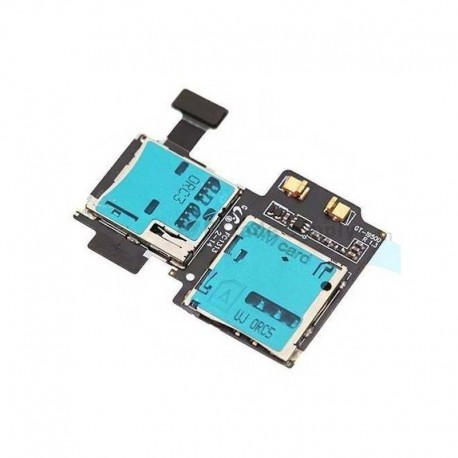 Flex conector tarjeta SIM y tarjeta de memoria microSD para Samsung Galaxy S4 LTE I9500 I9505
