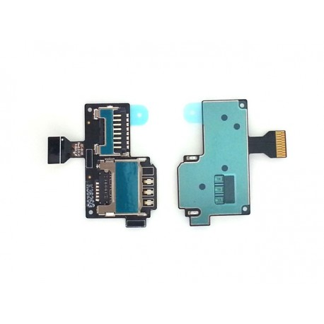 Flex con lector de tarjeta SIM y tarjeta de memoria MicroSD para Samsung Galaxy S4 Mini, I9190, LTE I9195