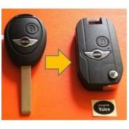 Carcasa Llave Plegable Mini Cooper 2 Botones.