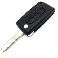 Carcasa llave plegable para Peugeot 407 / 607 - 3 Botones