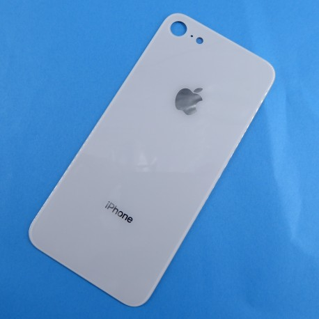 Tapa trasera cubre bateria para iPhone 8 Blanca