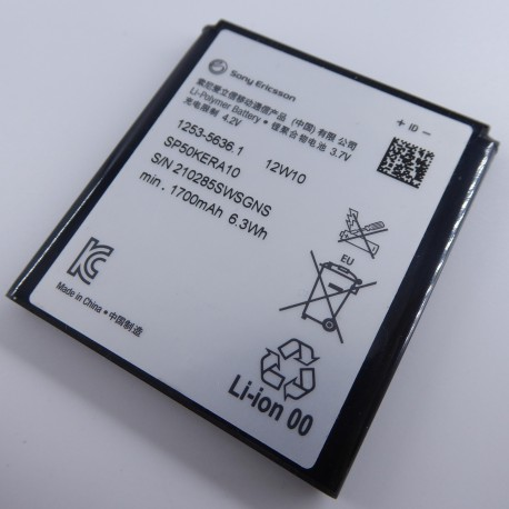Bateria Sony Ericson de 1700mAh para Sony Xperia S LT26i