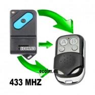 Mando de Garaje compatible para copiar FAAC TM 433 DS de un BOTON
