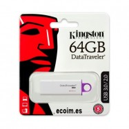 Lápiz de Memoria Pendrive Kingston 64 Gb USB 3.0 / 2.0