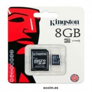 Tarjeta de Memoria Microsd 8gb Kingston Con Adaptador Sd