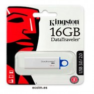 Lápiz Usb Memoria de 16 gb Kingston 3.0/2.0