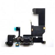 Conector Flex Dock De Carga IPhone 5 USB Jack Auriculares / Negro