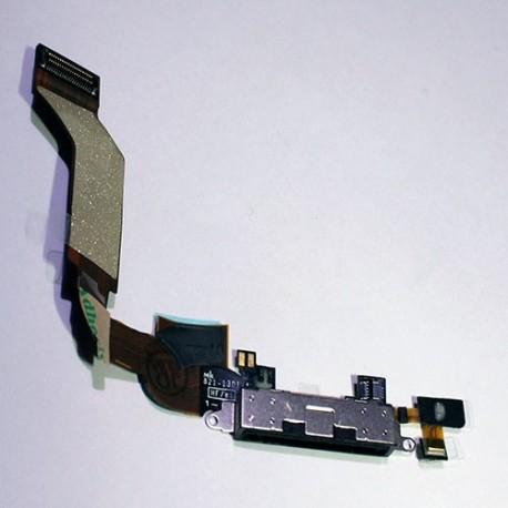Flex Carga + Micrófono iPhone 4S / Negro