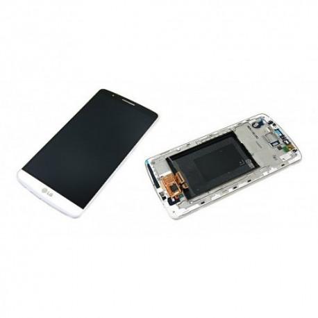 Pantalla Completa Original LG G3 / D855 / Marco + Digitalizador + LCD / Blanca