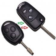 Llave convertible de fija a plegable telemando 3 botones Ford Focus, Ford Mondeo, C-Max