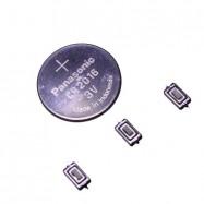 3 Pulsadores Para Citroen  C2 C3 + Pila