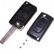 Carcasa Llave Plegable + Pulsadores para Telemando Citroen - C4, C4 Picasso - V1 Con Guías
