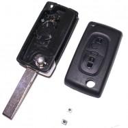 Carcasa Llave Plegable Para Citroen Telemando + Pulsadores - C2, C3 ,BERLINGO- V2 2 Botones