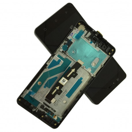 Pantalla Completa LCD + TÁCTIL + MARCO ORGINAL BQ M5 NEGRA