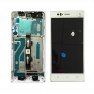 Pantalla Completa LCD + TÁCTIL + MARCO ORGINAL BQ M5 BLANCA