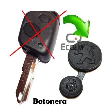 Botonera Peugeot 2 botones 106 205 206 306 307 405 406 / Goma