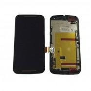Pantalla Completa LCD + Táctil con marco para Motorola Moto G2 Negra XT1063 XT1068