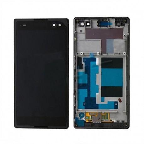 Pantalla Completa LCD + Táctil con marco para Sony Xperia C3 Negro