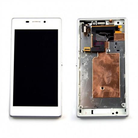 Pantalla Completa LCD + Táctil con marco para Sony Xperia M2 Blanco