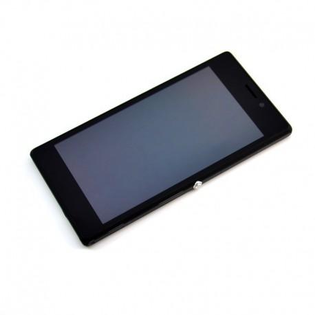 Pantalla Completa LCD + Táctil con marco para Sony Xperia M2 Negro