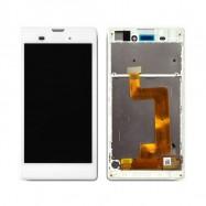Pantalla Completa LCD + Táctil con marco para Sony Xperia T3 Blanco